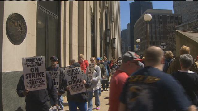 Almost 40000 Verizon workers go on strike